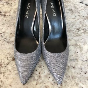 Nine West Glitter Heels Size 7.5M